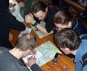 Zajęcia z mapami(fot. M.Pokszan)